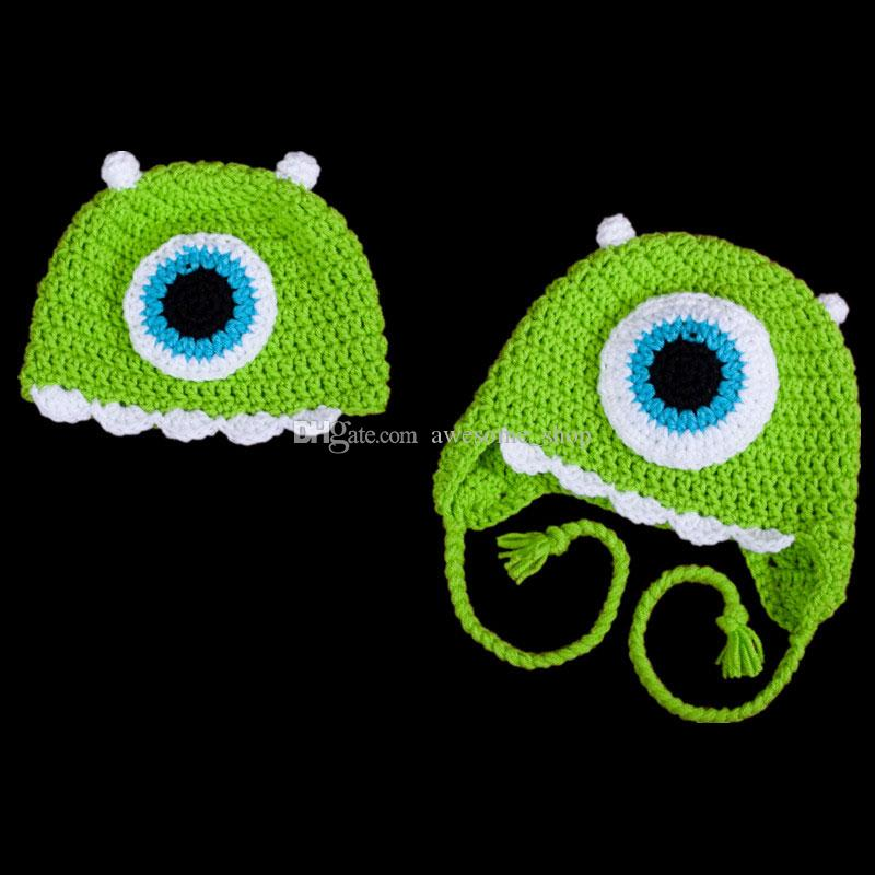 8b56dfed2 Novelty Character Hat,Handmade Knit Crochet Baby Boy Girl Twins Green  Monster Hat,Toddler Funny Hat,Infant Photography Props