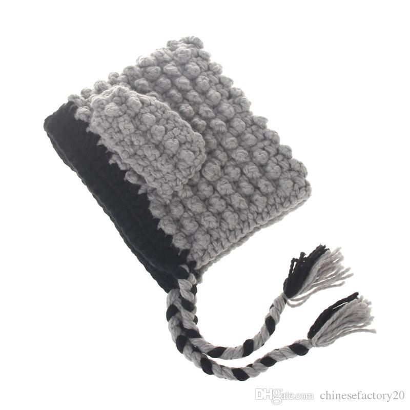 Baby Girls Warm Winter Rabbit Shawl Kids Children Cute Scarf Ear Fox Hooded Knitted Tassel Crochet Cap