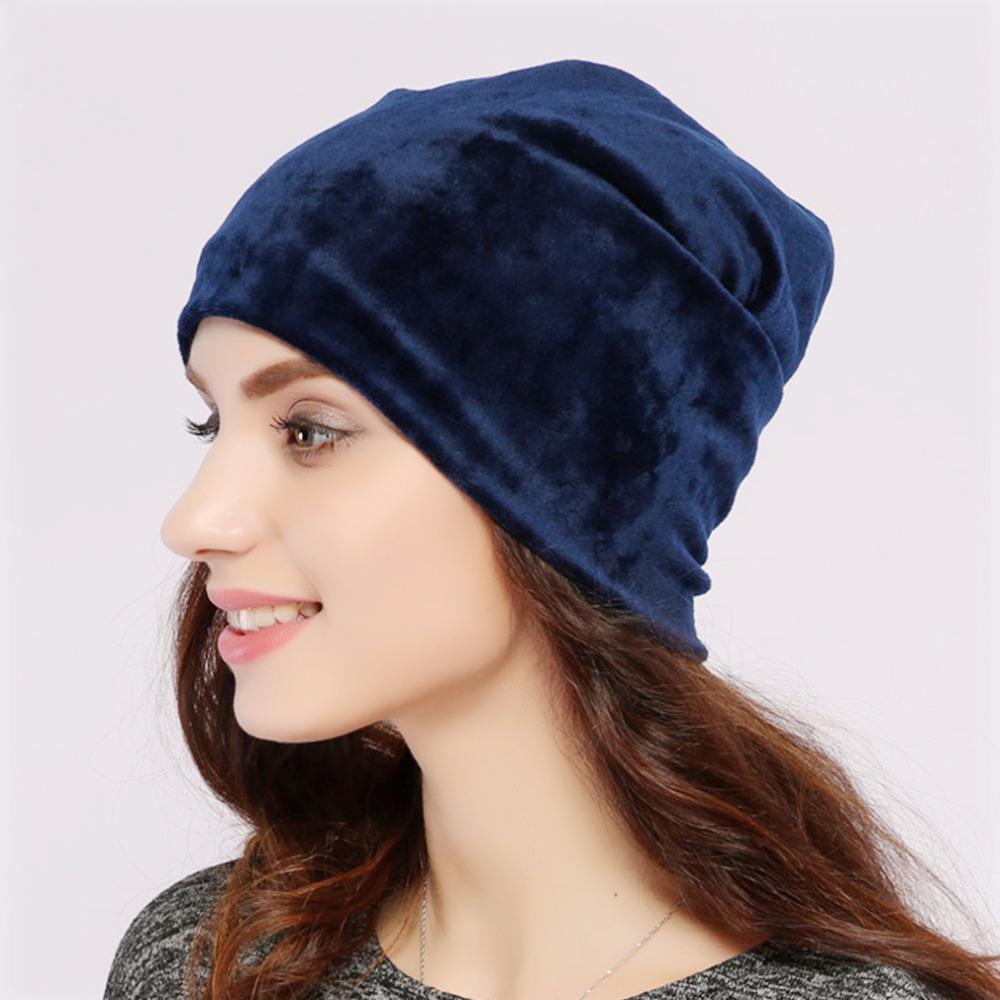 fffd20af42c Geebro Brand 2017 Women S Hat Skullies Beanies Polyester Knitted Hats Beanie  Hat Spring Casual Velvet Women Beanies Hats JS277A Baby Hat Crochet Baby  Hats ...