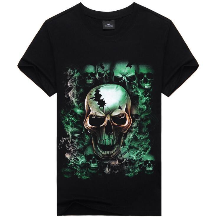 3D gun baskı erkekler giyim t shirt erkekler için yaz şort kollu kafatası spor erkek t shirt yeni gelgit hip hop erkek tişörtleri ücretsiz kargo