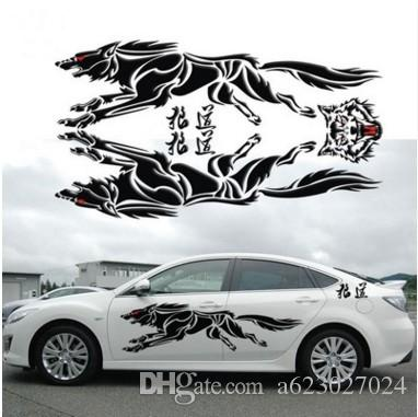 2018 car waist garland the vehicle stickers in the post the wolf car decals wolf totem of whole vehicle from a623027024 9 05 dhgate com