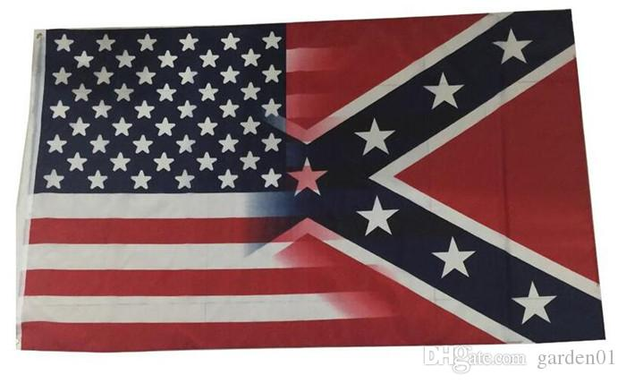 67cfd85a82 5X3FT American Flag with Confederate Rebel Civil War Flag New Style Hot  Sell 3x5 Fr G139 Confederate Battle Flags US Flags Confederate Flags Online  with ...