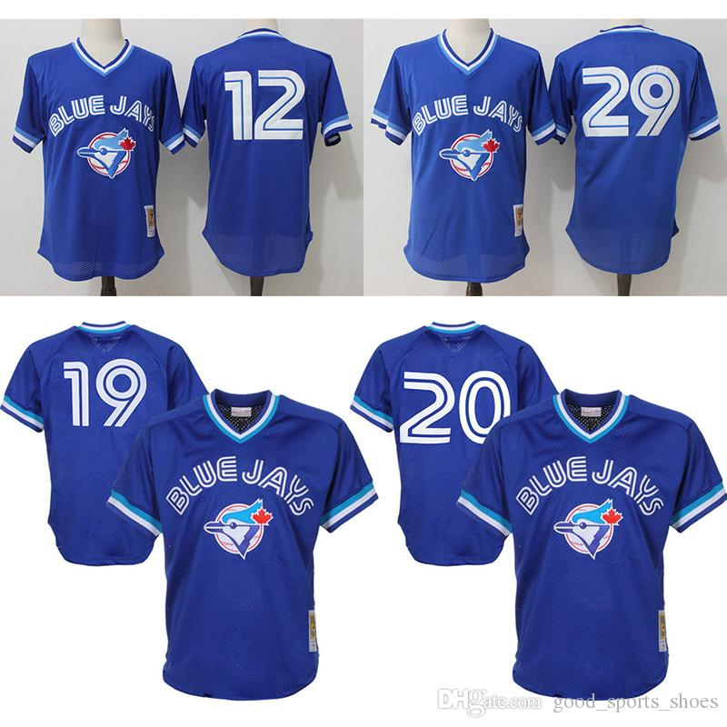 innovative design b0983 81c25 mitchell and ness toronto blue jays jersey
