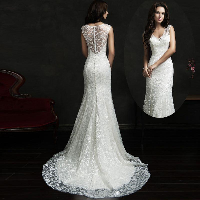 Discount Custom Made Spanish Lace Wedding Dresses Western Country ...