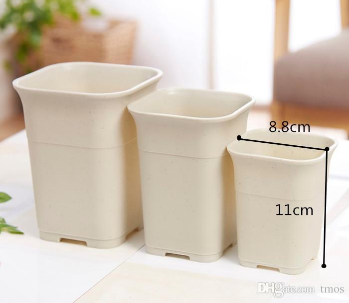 Vente en gros de céramique simulant un pot de fleur succulent carré pour la maison intérieure, la serre et le jardin extérieur