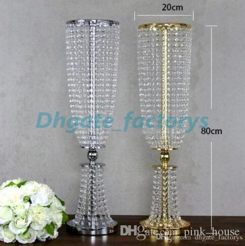 New Product Bling Gold Metal Wedding Table Centerpiece Crystal Flower Stand  For Wedding Props Table Centerpiece Wedding Table Centerpieces Flower Stand  ...