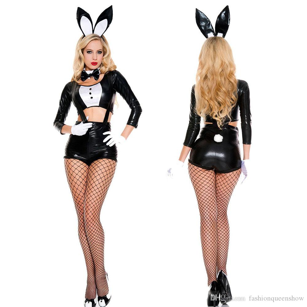 2017 halloween easter bunny girl costume women rabbit cosplay outfit magician clothes sexy black dance party uniforms from fashionqueenshow 218 dhgate - Clothes Halloween