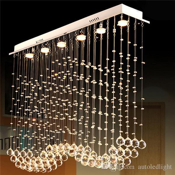 Modern 60 70 90cm Crystal Led Chandeliers Ceiling Lights: Lampadari Minimal Design