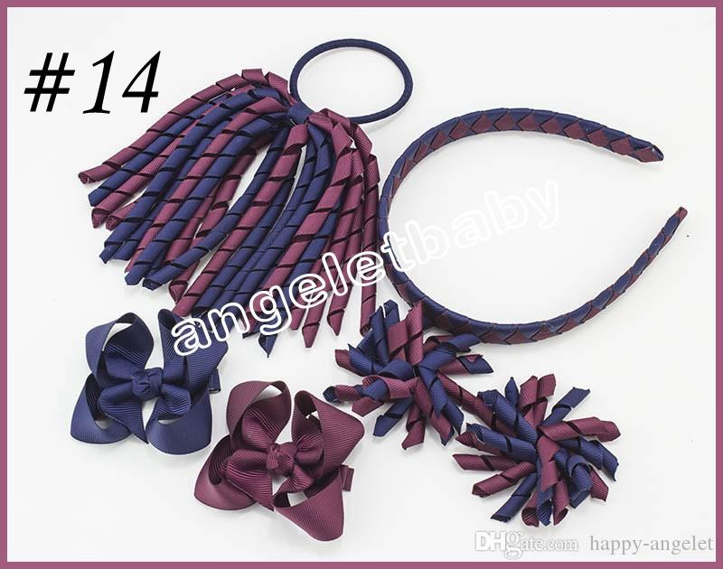 korker Ponytail streamers woven headbands hair ties bows clips flowers corker Curly ribbon hair bobbles Accessories PD026
