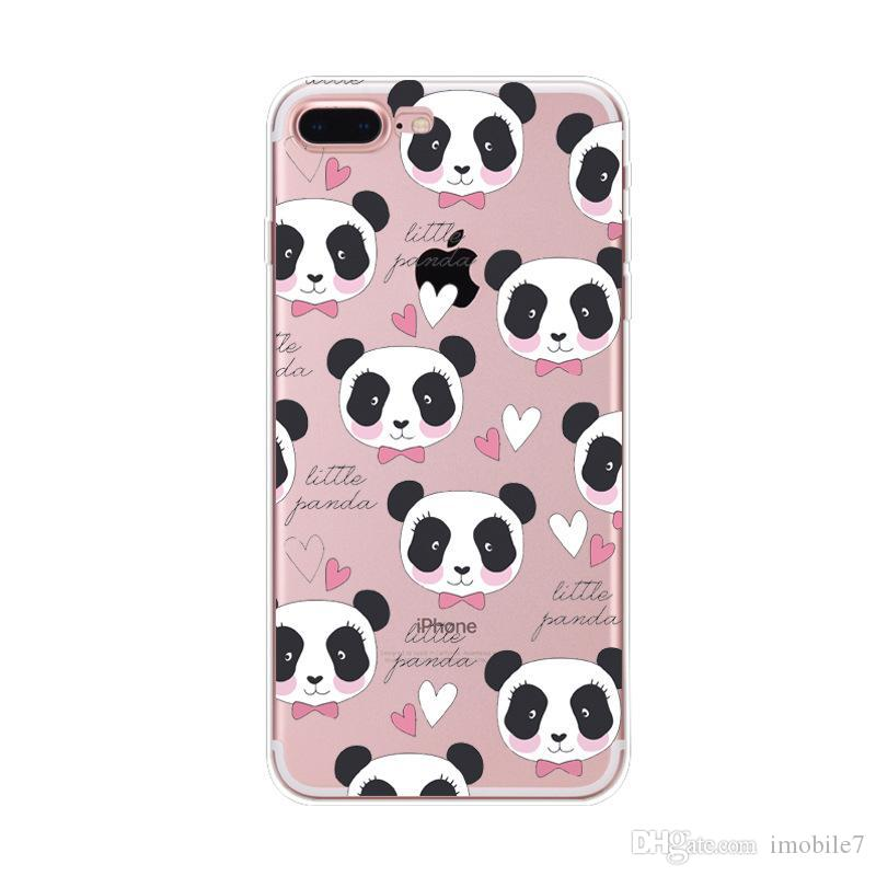 018b3eb94f3 Fundas De Celulares Animales Para Iphone 6 / 6s Plus Funda Animales Panda  Unicornio Transparente De Silicona Tpu Suave Fundas De Cactus Labios  Flamingo ...