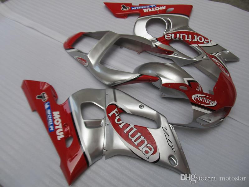 Free 7 gifts fairings for Yamaha YZF R6 98 99 00 01 02 silver red motorcycle fairing kit YZFR6 1998-2002 OT32