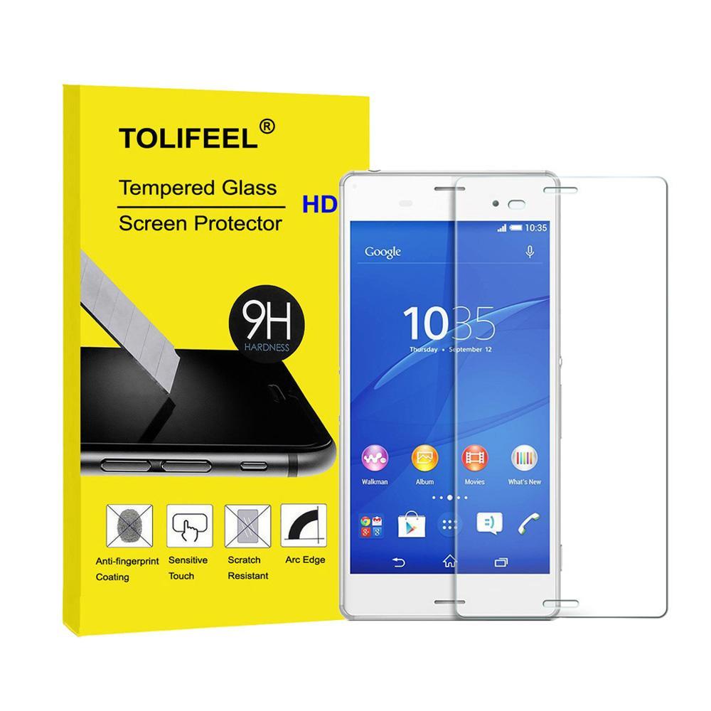 Film protecteur en verre trempé TOLIFEEL 9H Premium Protecteur d'écran pour Sony Z Z2 Z3 Film protecteur Z4 Z4 M4 Compact 2.5D