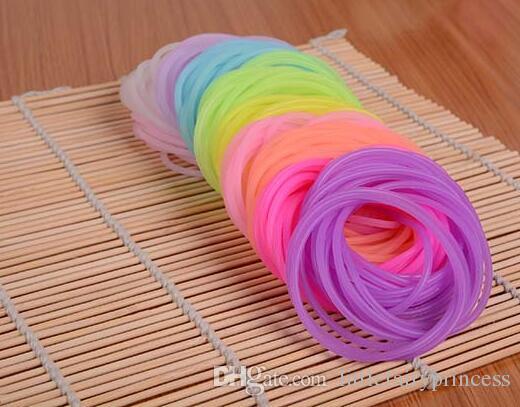 Night Glow Hair Ties Or Bracelet Silicone Elastic For Kid