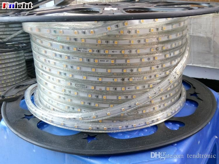 rgb a mené la lumière de bande 3528, la décoration de restaurant d'hôtel de fête 220v a mené la lumière de bande imperméable à l'eau, lumière de bande flexible de smd3528 ip67, 100M / REEL
