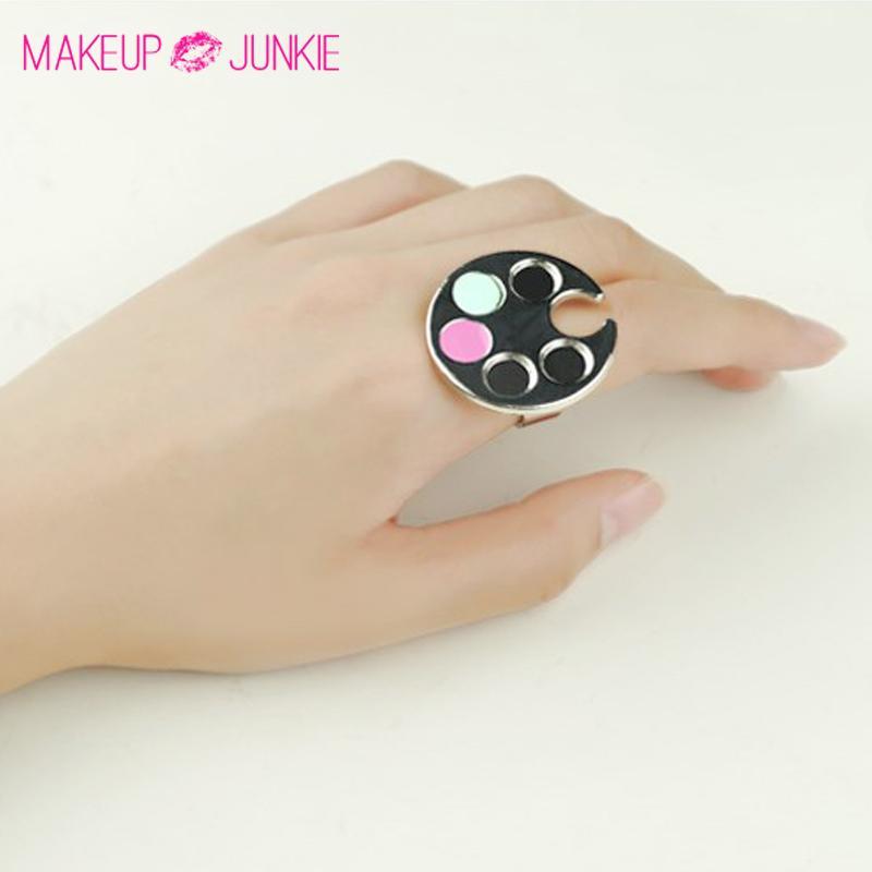 Wholesale Mini Nail Art Metal Finger Ring Palette Mixing Acrylic Gel ...