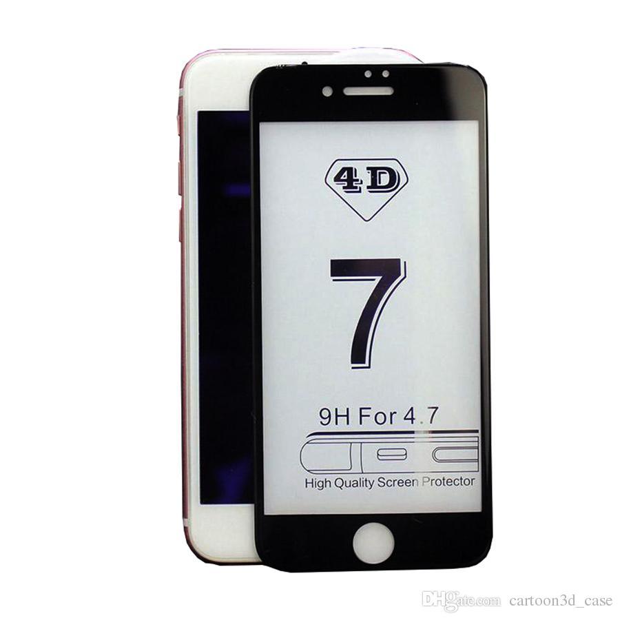 4d2f953aac4 Protector De Pantallas Nuevo Protector De La Pantalla De La Cubierta  Completa De 9h 4d Para El Iphone 6 6s 7 Más Vidrio Templado Curvado De Alta  Calidad 3d ...