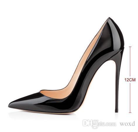 66fa7f9cae06dc Großhandel Top Qualität 2017 Frauen Schuhe Rote Schuhe High Heels Sexy  Spitz 8 Cm 10 Cm 12 Cm Pumpen Kommen Mit Logo Staubbeutel Hochzeit Schuhe  Von Woxd