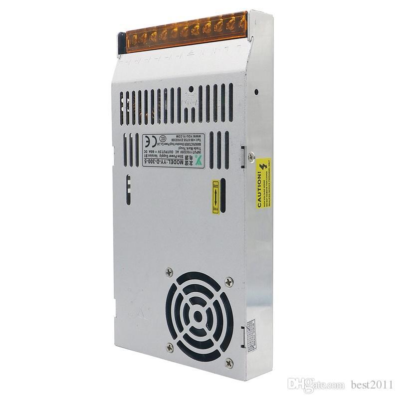 LED Ekran LCD Monitör DC5V 60A 110V Anahtarı için 220V 300W Switching güç Kaynağı Adaptör Sürücü Trafo