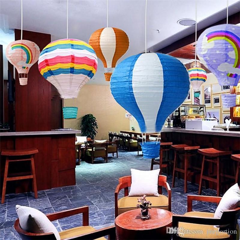 New Rainbow Paper Lantern Hot Air Balloon Wedding Decoration