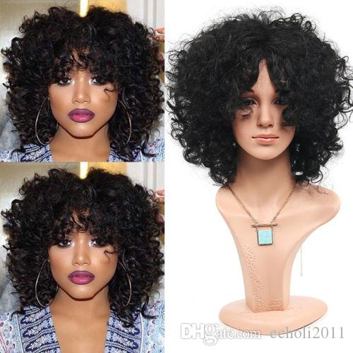 Short Curly Wave Bob Human Hair Wigs 180% density full natural Glueless Lace Front Wavy Wigs for black women dhl free ship