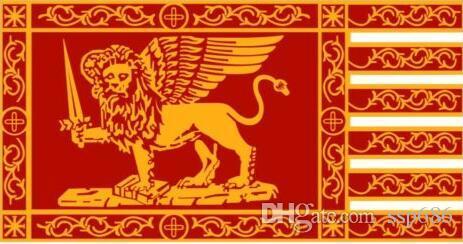 Venedik City Of İtalya Cumhuriyeti Bayrağı 3 mx 5 ft Polyester Banner Uçan 150 * 90cm Özel bayrak açık