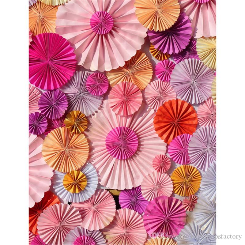 Vinyl photography background colorful paper flowers newborn baby shower backdrop kids birthday party photo booth backdrops 2018 vinyl photography background colorful paper flowers newborn baby shower backdrop kids birthday party photo booth backdrops from