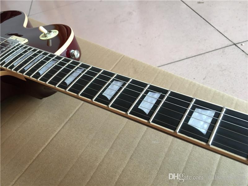 Wholesale one piece mahogany neck standard electric guitars,beautiful,like photos,Red wine,Made in China,
