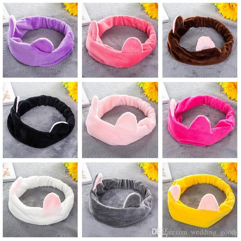 Free shipping Cat ears ear hair band cute selling sprout hair wash head scarf headband TG001 mix order 30 pieces a lot