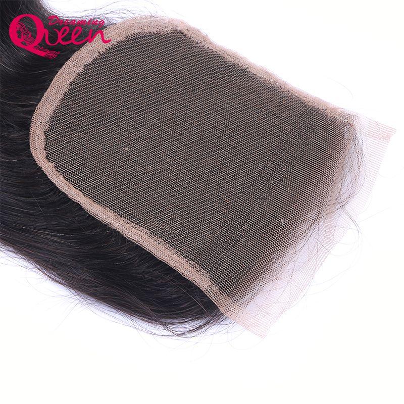T1B 27 miele color miele onda del corpo chiusura del merletto capelli umani vergini brasiliani 4X4 chiusura in pizzo con i capelli del bambino ombre chiusura in pizzo