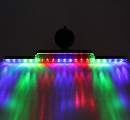 12 V Carro Universal de Energia Solar Anti Traseiro-end LED Luzes Bar Luz de Estacionamento Colorido com Otário para a Segurança no Trânsito