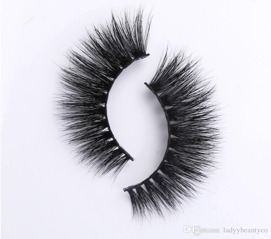 Ciglia di visone 3D 100% visone siberiano Ciglia finte Nuovo ciglia disordinate 3D Ciglia finte Ciglia finte Ciglia di visone capelli ciglia finte striscia 3D