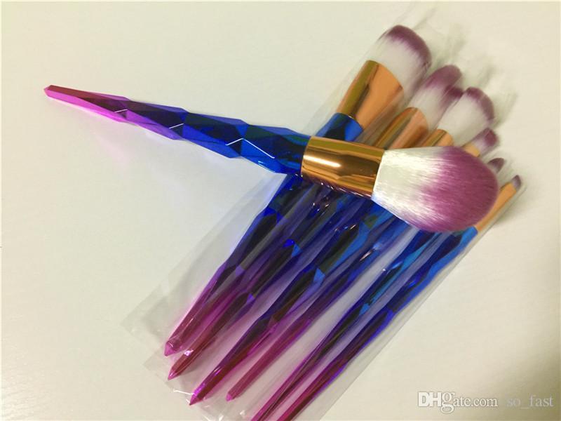 Yeni Fırça seti Profesyonel Vander 7 adet Krem Güç Profesyonel Makyaj Fırçalar Amaçlı Güzellik Kozmetik Puf Toplu Kabuki Allık