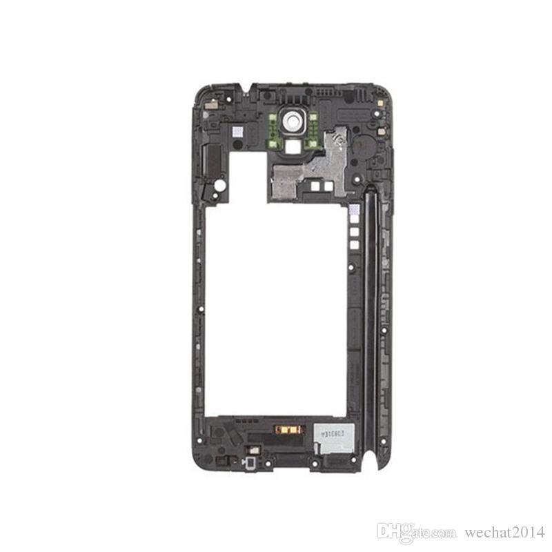 100% OEM Samsung Galaxy Note 3 N9005 Cornice posteriore posteriore Cornice centrale con sostituzione della lente del pannello della fotocamera
