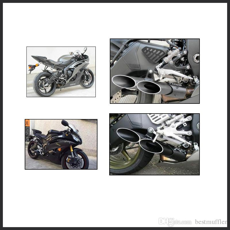 New Black Aluminum 45mm Motorbike Exhaust Pipe Exhaust System for Yamaha R6 2006-2015