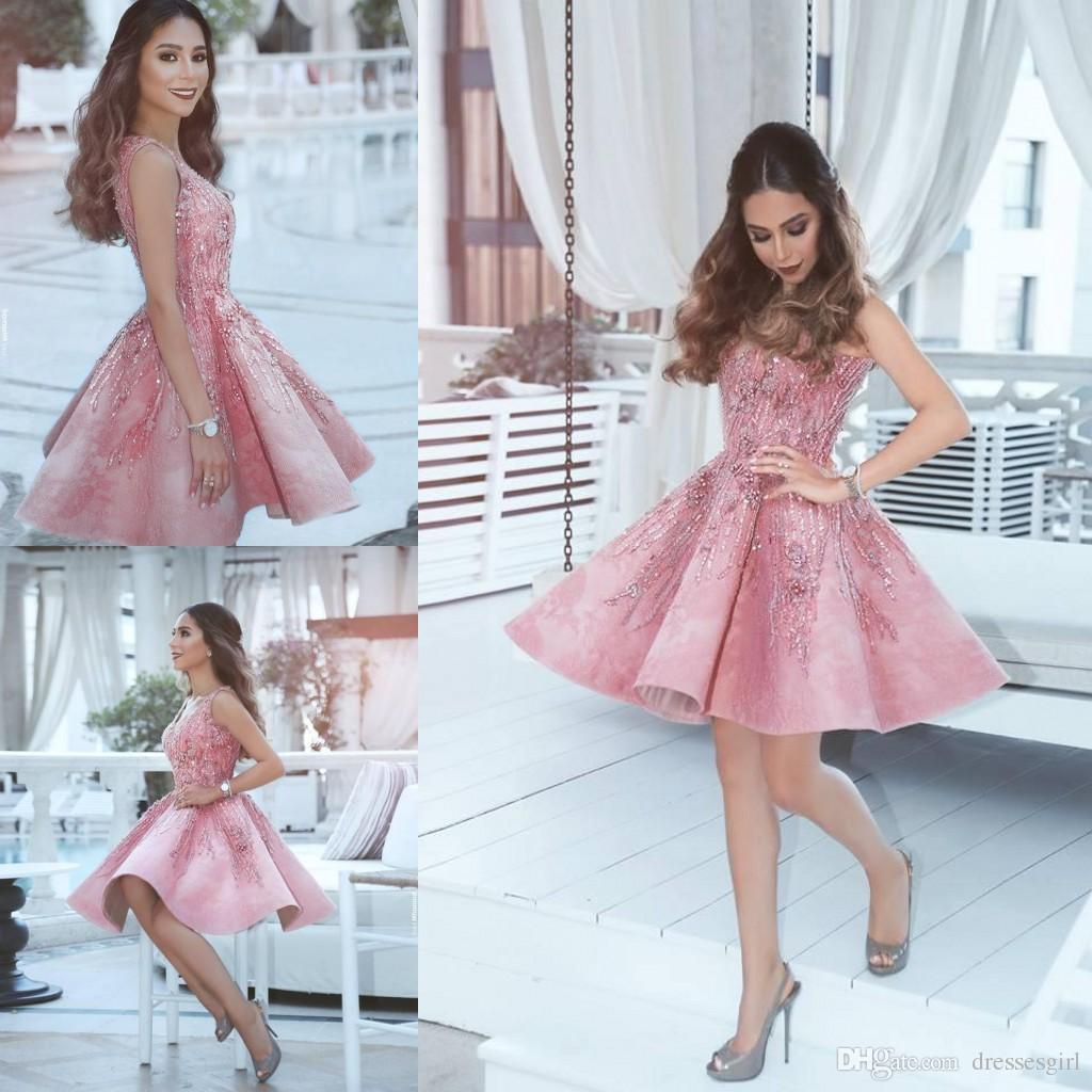 Großhandel Dubai Blush Pink Homecoming Kleider 2018 Vestidos V ...