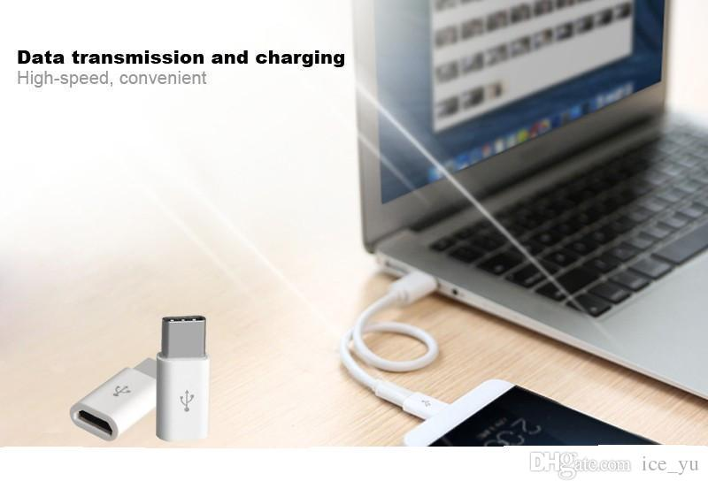 Mini USB 3.1 Tipo C Macho a Micro USB Hembra Adaptador de cargador de datos USB-C Tipo-c Convertidor de cable para Macbook 12 pulgadas oneplus 2