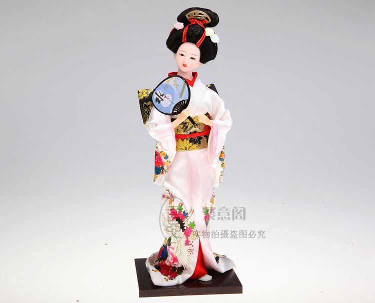 Giapponese Geisha Burattino Doll Tang Fang Silk Kimono Doll Ornaments Giapponese Homeoid Artigianato