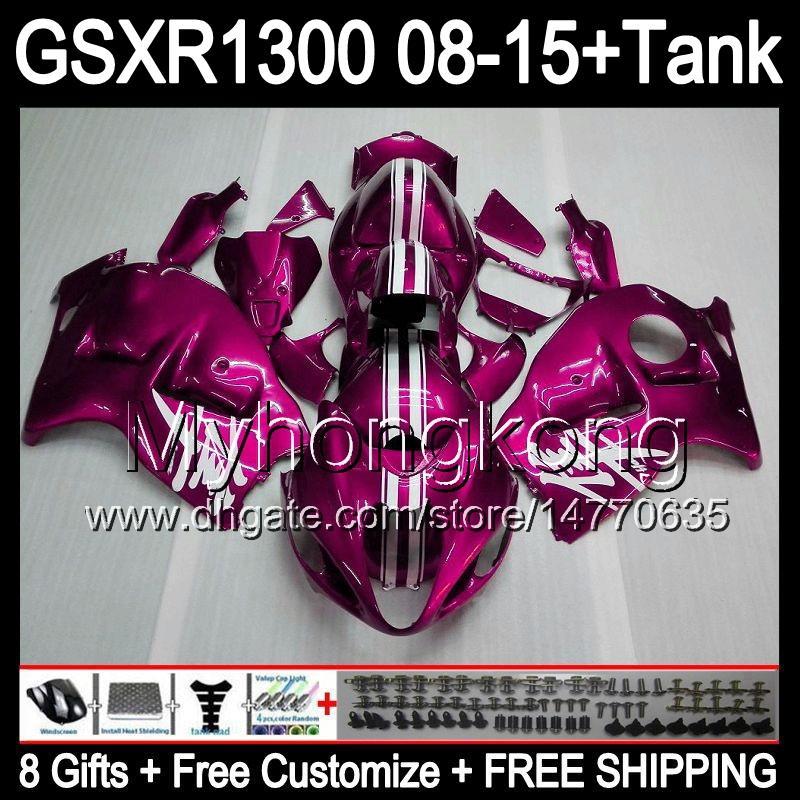8gifts Para SUZUKI Hayabusa GSXR1300 2008 2009 2010 2011 14MY199 brilho rosa GSXR-1300 GSX R1300 GSXR 1300 2012 2013 2014 2015 Carenagem rosa