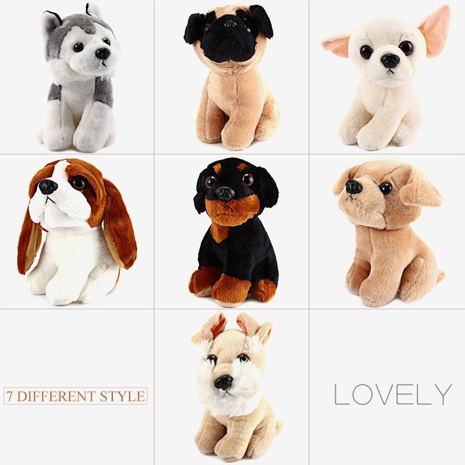 7 Inch Cute Dog Plush Doll Stuffed Soft Animal Toy Husky Pug Dog