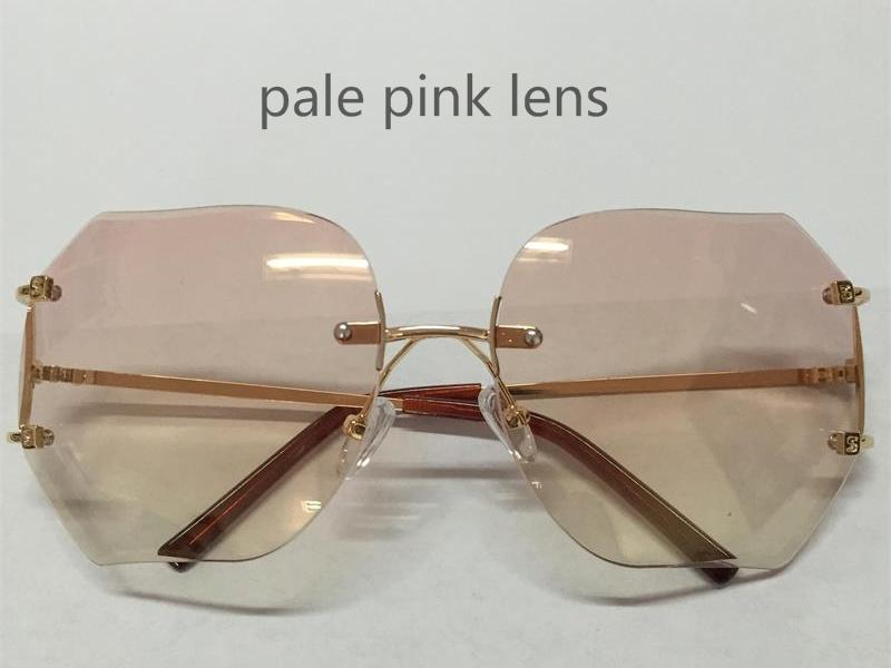 Fashion Oversized Rimless Sunglasses for Men and Women Unique Style Clear Lens Sunglasses Metal Frame Gafas De So dUzTAiFl