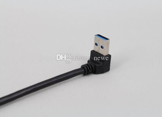 Electrónica universal 15cm USB cable de extensión USB 3.0 macho A a hembra A 90 datos de la extensión del cable adaptador grado de sincronización del cable de alambre
