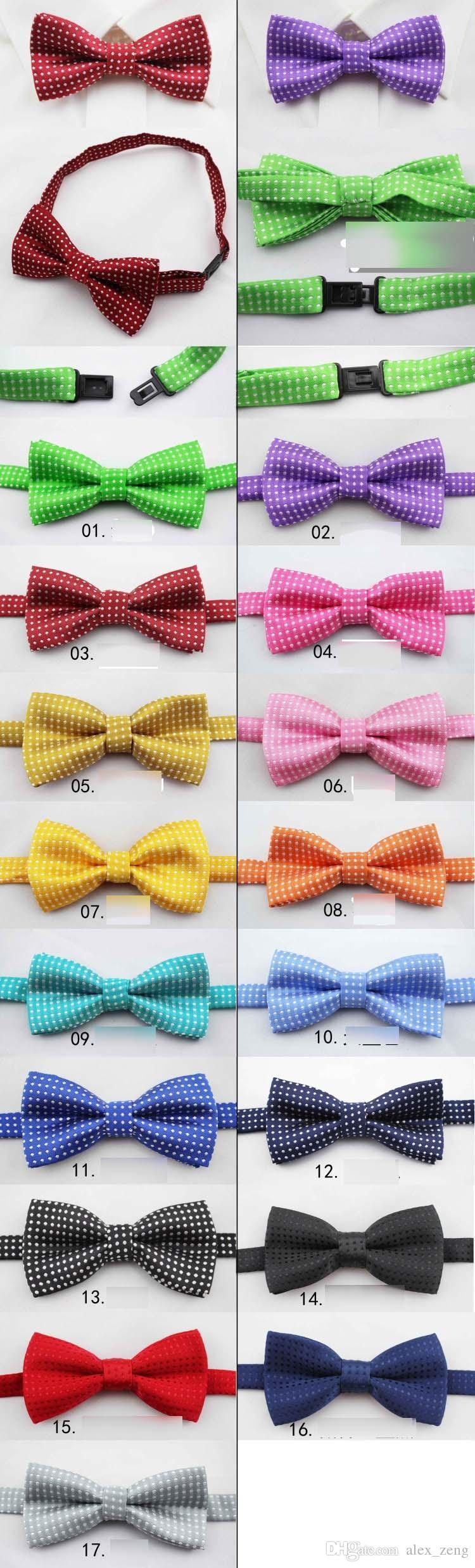 18 색상 New kids Bowties 넥타이 보우 타이 넥타이 보우 타이 보우 타이 넥타이 순수 색 bowtie 별 체크 폴카 도트 줄무늬 무료 배송