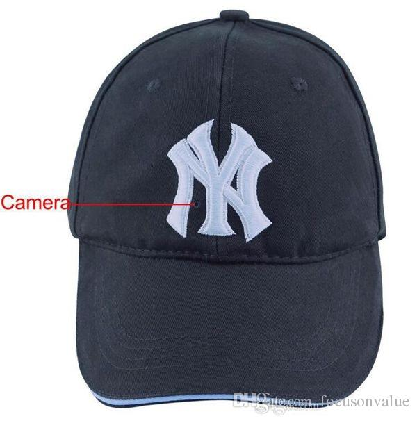 Full HD 1080P Cap camera 32GB NY Baseball cap DVR Remote control hat Camera Video recorder Security mini DV hat DVR