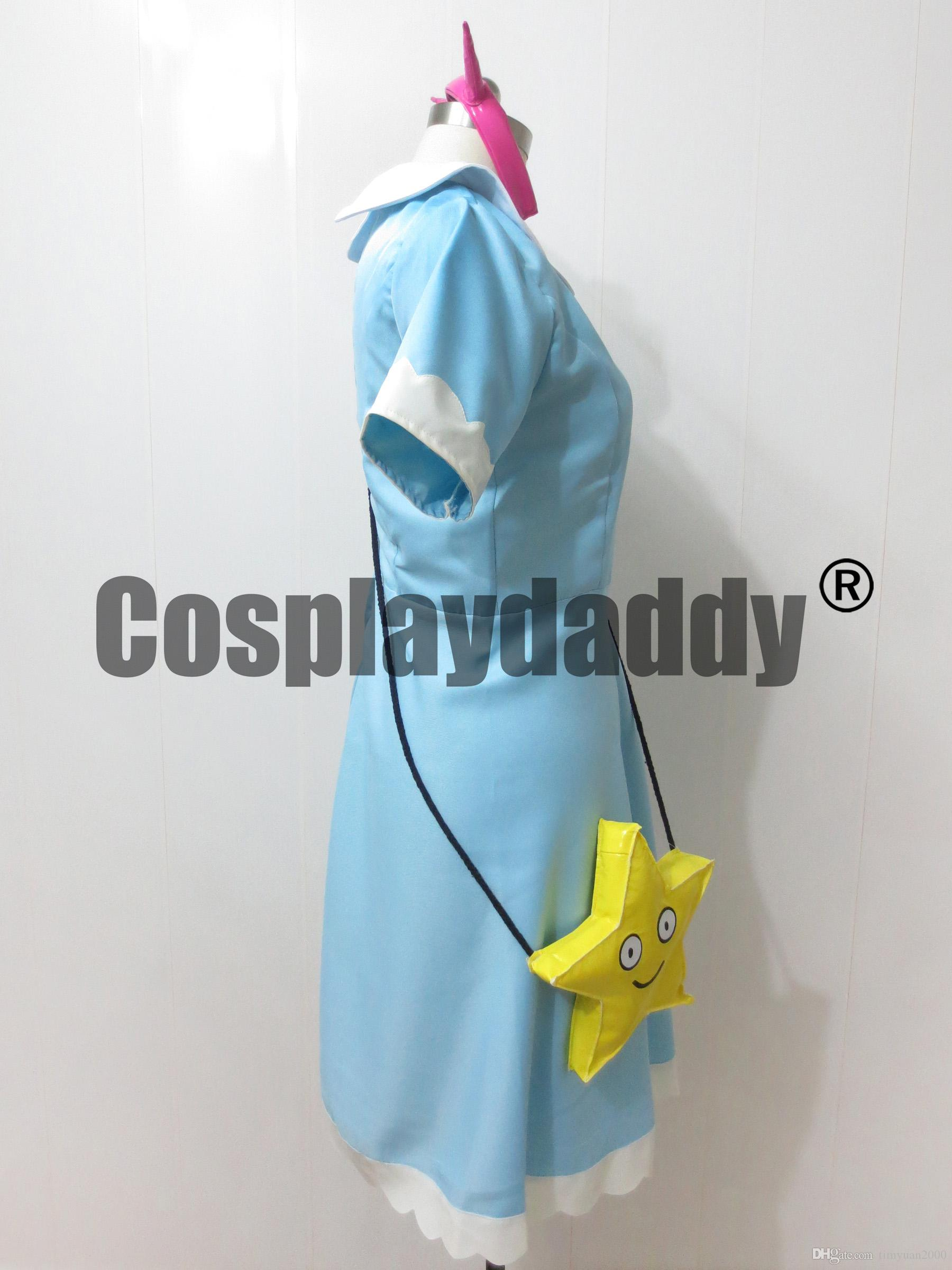 Star vs the Forces of Evil Principessa Star Butterfly Cosplay Blu chiaro Abito lungo Messen