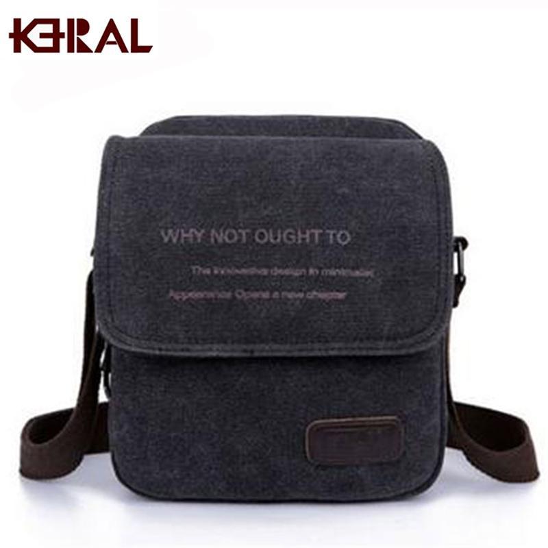 7778a4154353 Wholesale Hot New Men Messenger Bags Canvas Vintage Bag Men Shoulder  Crossbody Bags For Man Brown Black Small Bag Designer Handbags Bolso Cross  Body Purses ...