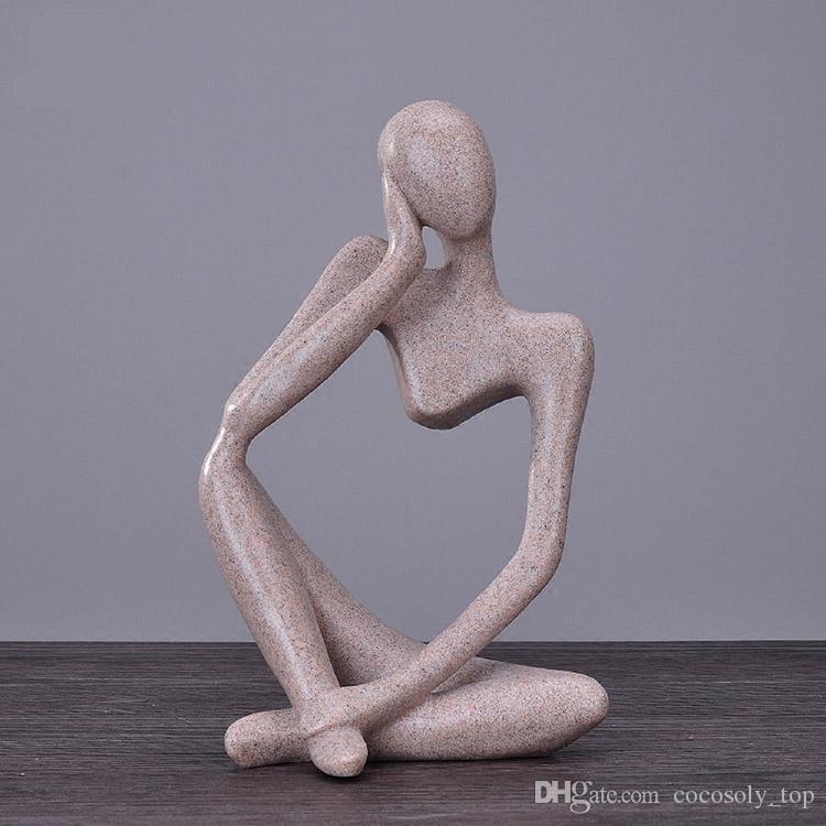 3 estilos Modern pessoas artesanato criativo, personagem ornamento escritório decoração figuras de arte Frete grátis VIA EUB