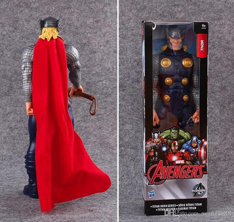 Avengers PVC Action Figures Marvel Heros 30cm Iron Man Spiderman Captain America Ultron Wolverine Figure Toys 7 Styles