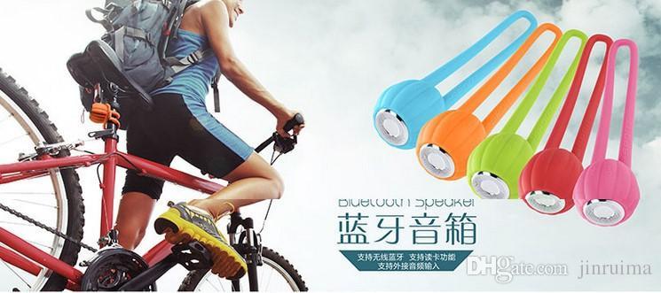 - Pumpkin Bluetooth carte haut-parleur portable portable étanche Mini Ride TF Carte TF Petite mi-acier