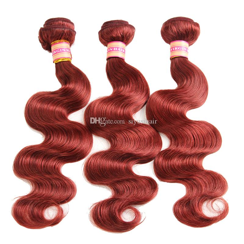 Malaysian Indian Brasilianische Jungfrau Haarbündel Peruanische Körperwelle Haare Gewebt Natürliche Farbe # 1 # 2 # 4 # 27 # 99J # 33 # 30 Human Haarverlängerungen