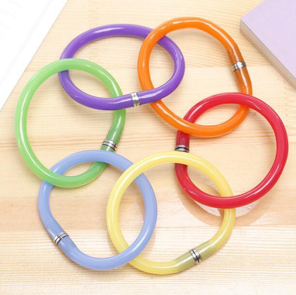 DHL Stationery Gift Pen Bracelet Wrist Pen Children Deformable Flexible Bend Stationery Gift Keepsakes Color Finesse Pen